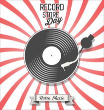 Retro Vinyl Record Store Day Background