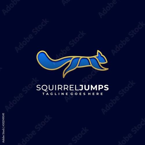 Squirrel Jump illustration vector Design template Wall mural