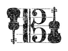 Alto Clef Violas (Vintage Black)