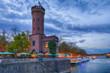 canvas print picture - Alter Turm und Ausflugsziel am Rheinufer in Köln