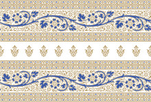 Seamless Floral Border With Traditional Asian Design Elements