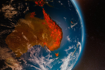 Ecological disaster of fires in Australia