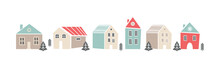 Cute Sbanner With Houses In Sc...