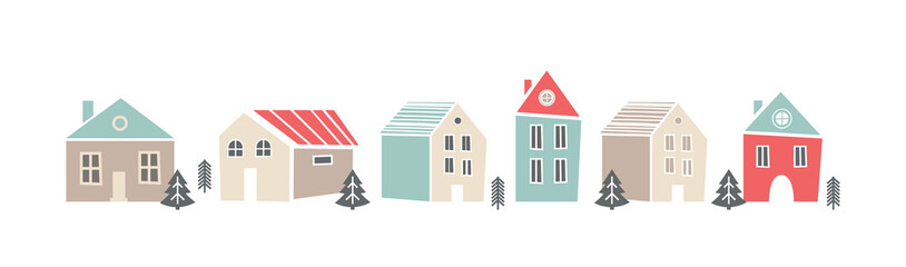 Cute sbanner with houses in...