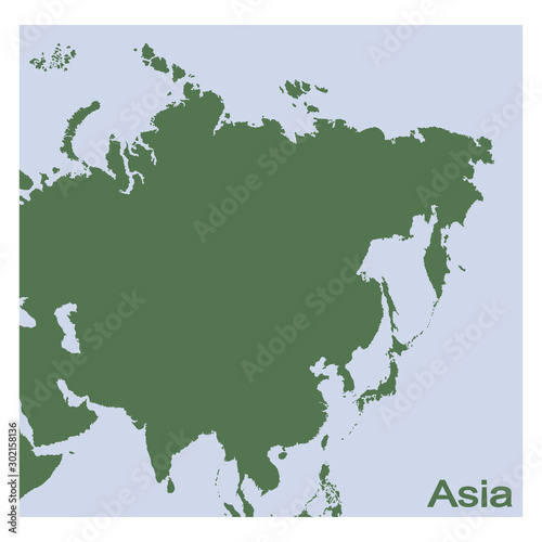 Fototapeta vector illustration with Political Map of Asia