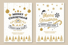 Set Of Merry Christmas And 202...