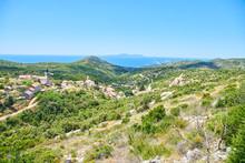 Panoramatic View Of Hvar Island From Hills Near Brusje, Hvar, Croatia