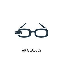 AR Glasses Icon. Simple Elemen...