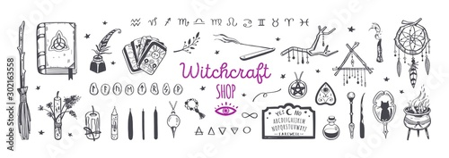Witchcraft, magic shop for witches and wizards Fototapet