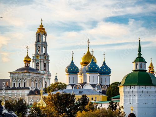 Obraz Trinity Lavra of St. Sergius, Sergiev Posad, Moscow Region. gold ring of Russia - fototapety do salonu