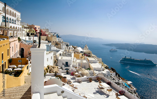 Fira panorama, Santorini, Greece Obraz na płótnie
