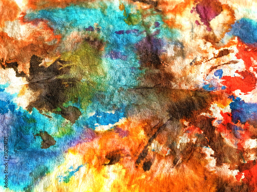 Fototapety, obrazy: Colorful abstract spots, interesting background, texture