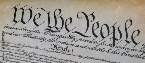 Fototapeta we the people usa constitution detail obraz