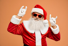Bearded Santa Claus Showing Do...