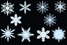 Snowflakes, Płatki śniegu,ch...