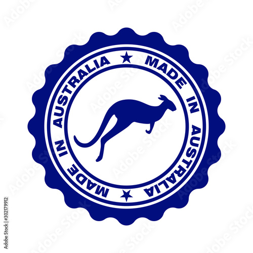 Photo Stamp with text Made In Australia