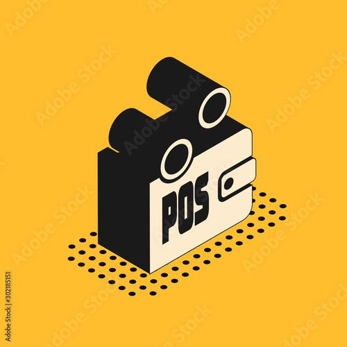 Fotografija Isometric Proof of stake icon isolated on yellow background