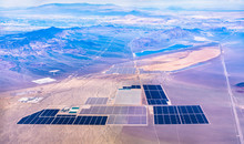 Solar Power Plants In The Mojave Desert - Nevada, USA
