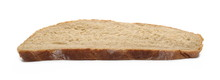 Integral Rye Bread Slice Isolated On White Background