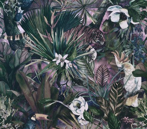 tropikalny-wzor-z-tygrysem-i-tropikalnymi-kwiatami-bezszwowy-wzor-z-orchideami-i-dzikim-kotem