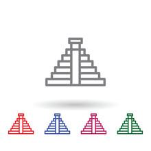 Mayan Multi Color Icon. Simple...
