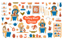 Pottery Wheel And Pottery Mega...