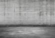 canvas print picture - Empty parking lot, concrete interior