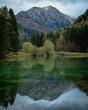 Beautiful water mirror effect.