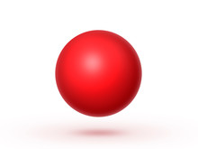 Globe Sphere Or Ball Isolated On A White Background. 3D Illustration