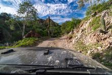 Offroad Driving In Baja California Desert