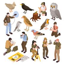 Ornithologist Isometric Set