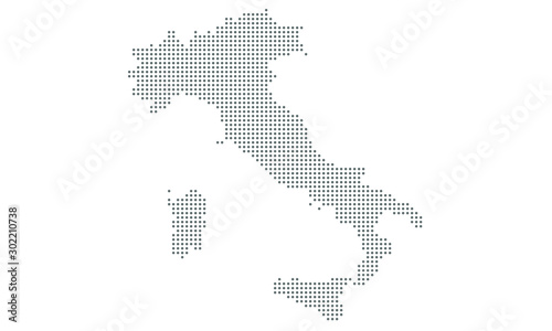 Fotografía italy map vector, isolated background