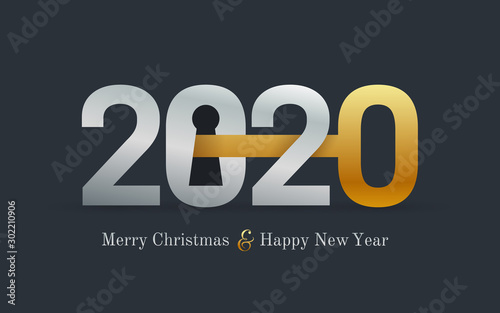 Fotomural  2020 new year card for real estate company