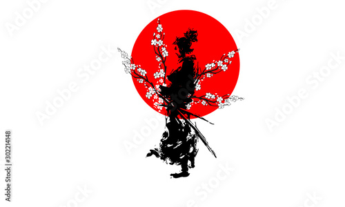japan samurai Wallpaper Mural