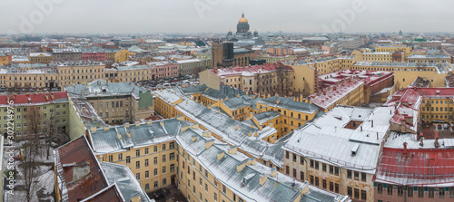 St. Petersburg in winter, view from above. Wallpaper Mural