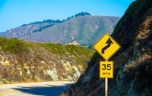 Winding Road In A Mountainous ...