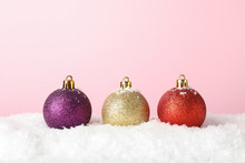 Glittering Christmas Baubles O...