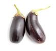 Leinwandbild Motiv Eggplant isolated on a white background