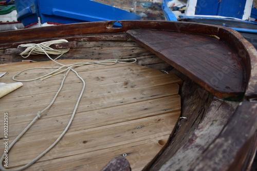 prua di una vecchie barca in legno. Sferracavallo, Palermo Canvas