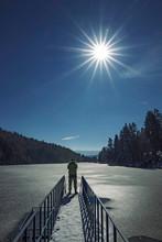 Traveling Around Frozen Lake A...