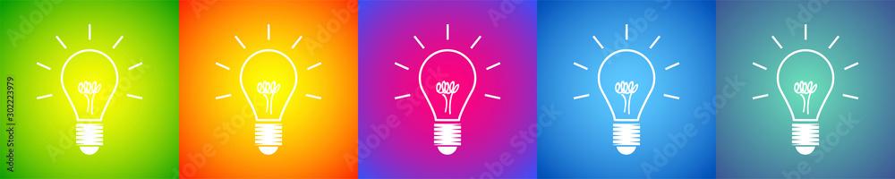 Fototapeta lampadina, idea, colori, creatività, idee