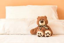 Brown Teddy Bear Sitting Alone...