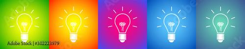 Fotografía lampadina, idea, colori, creatività, idee
