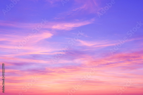 Colorful sunset in the sky