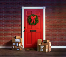 Last Minute Christmas Holiday Shopping Spree Boxes Delivered To The Front Door.