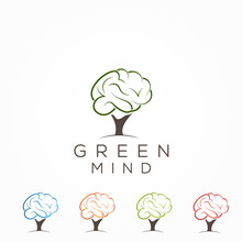 Brain And Tree Logo