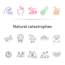 Natural Catastrophes Icons