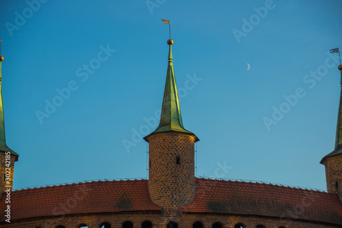 Krakow, Poland: Cracow barbican - medieval fortifcation at city walls, Poland