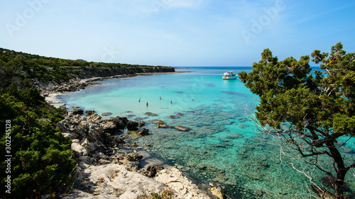 Photographie famous blue lagoon place, Cyprus Akamas Peninsula National Park