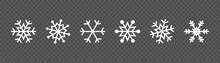 Snowflake Set On Isolated Back...